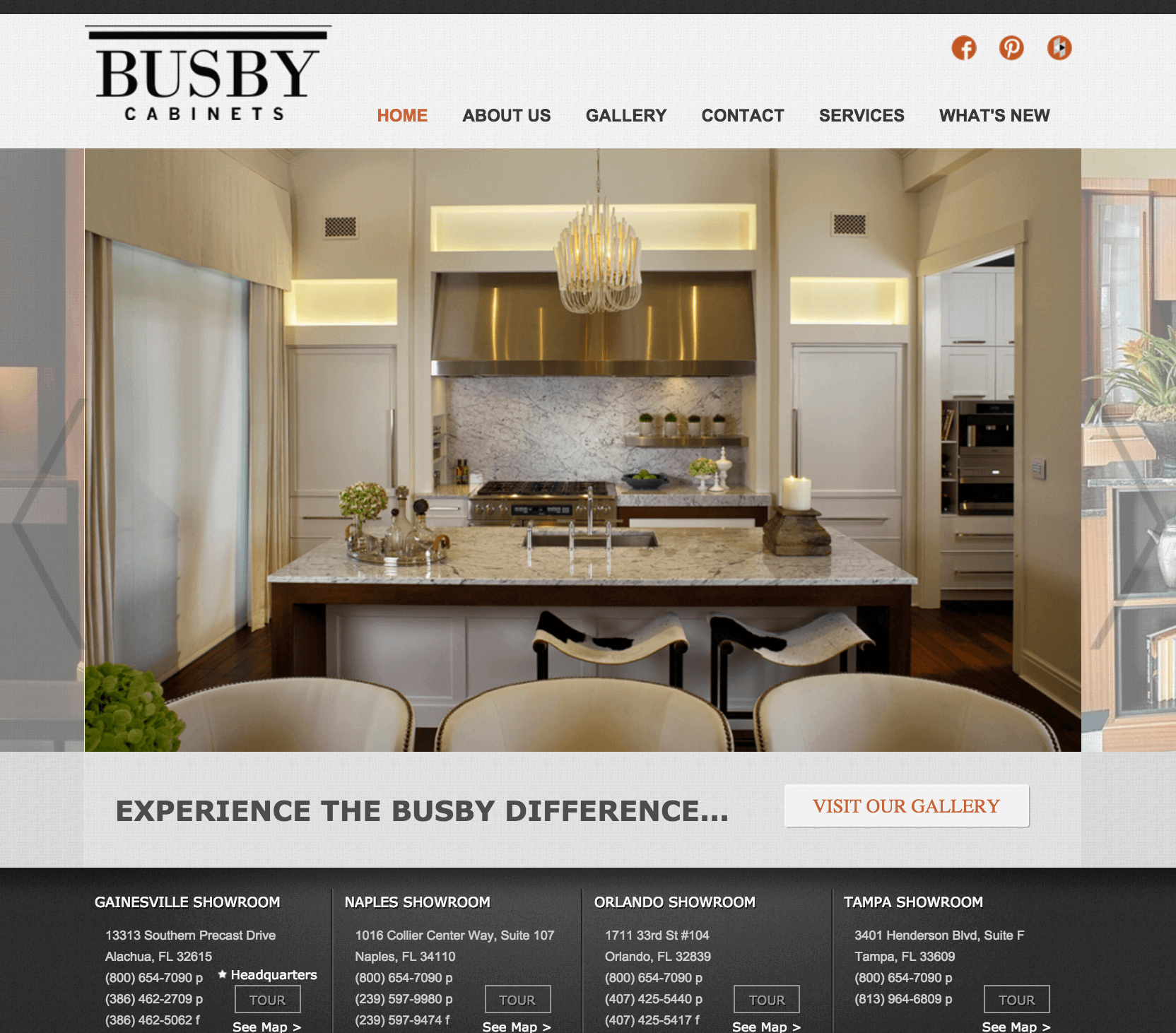 Busby Cabinets website preview