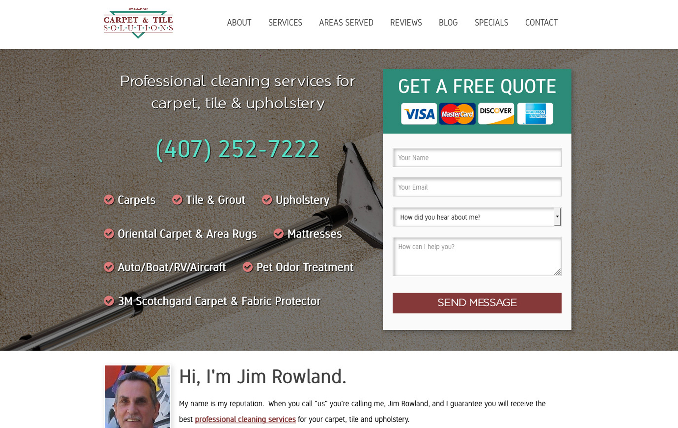 Jim Rowland Website Preview